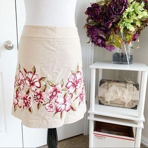 Ann Taylor Loft Floral Pencil Skirt